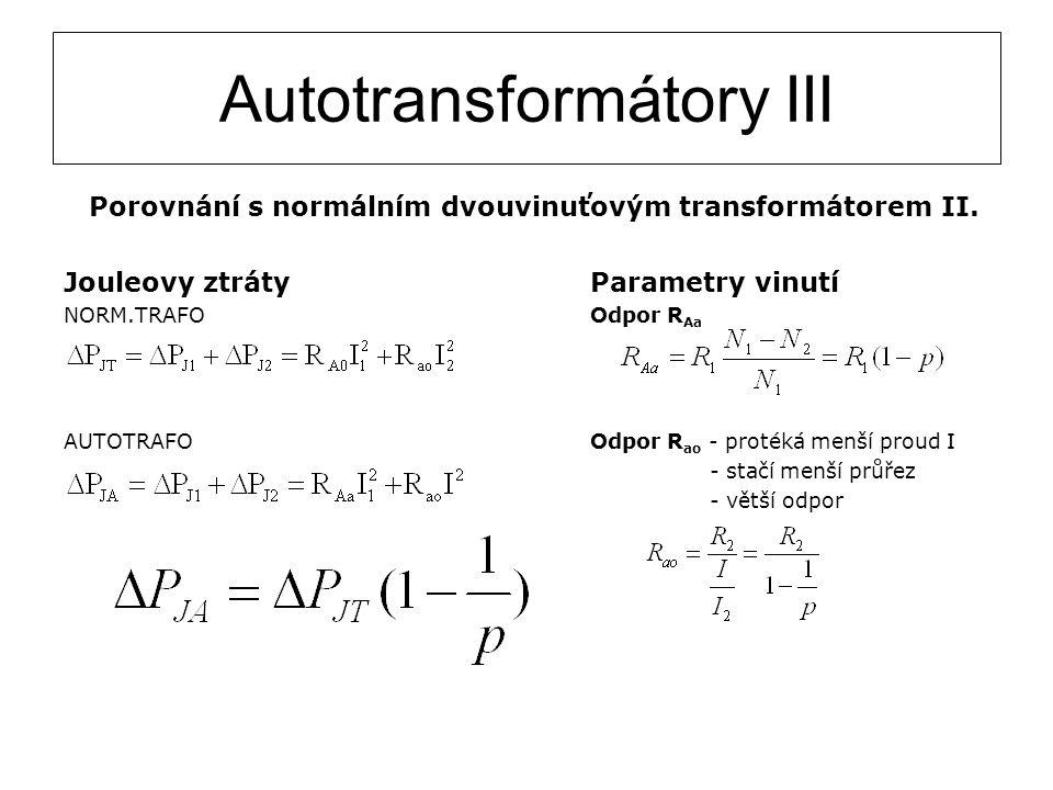 Autotransformátory III