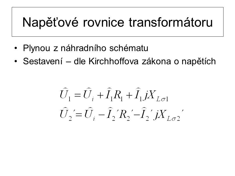 Napěťové rovnice transformátoru