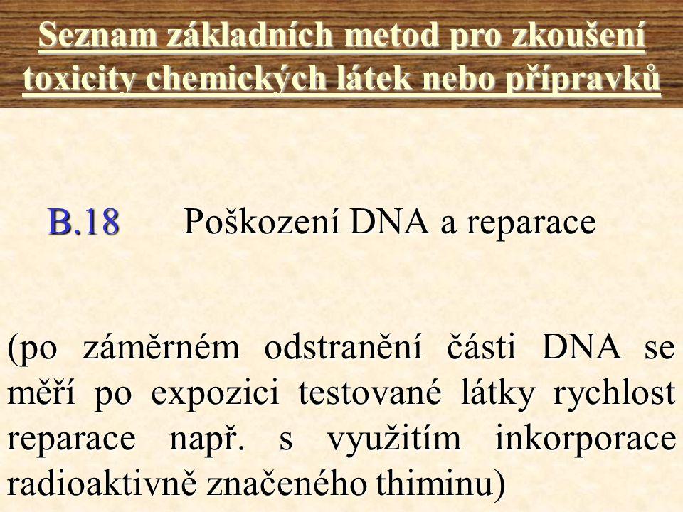 B.18 Poškození DNA a reparace