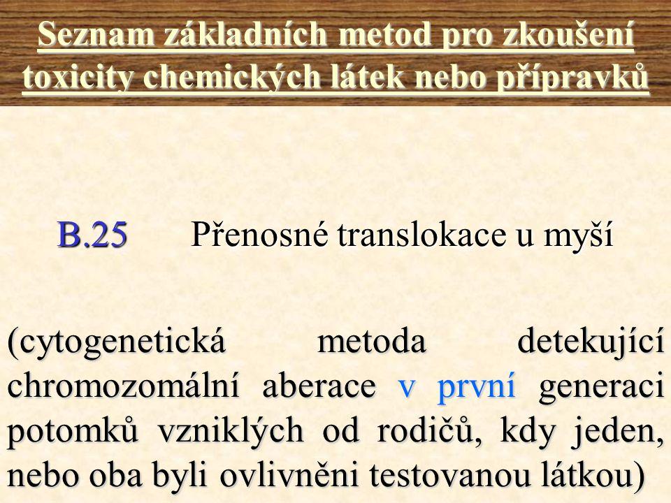 B.25 Přenosné translokace u myší