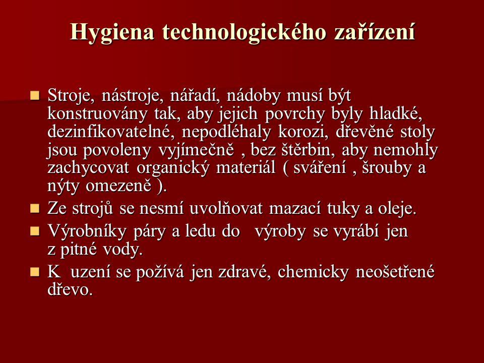Hygiena technologického zařízení
