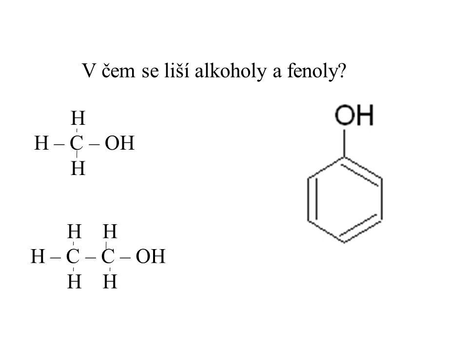 V čem se liší alkoholy a fenoly
