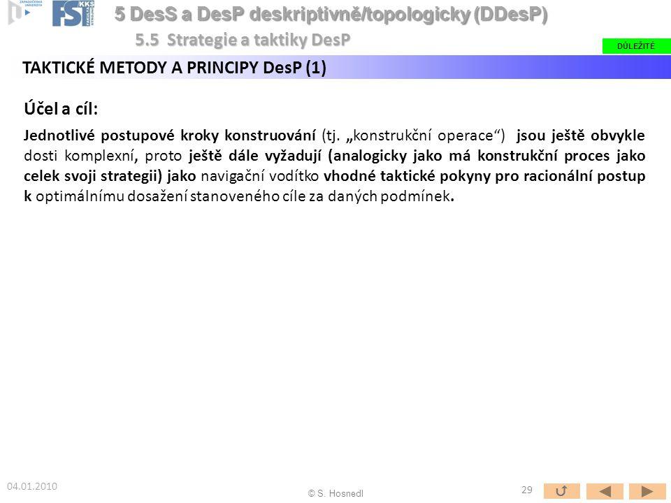 5 DesS a DesP deskriptivně/topologicky (DDesP)