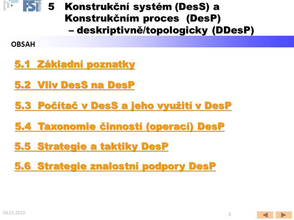Konstrukční systém (DesS) a Konstrukčním proces (DesP)