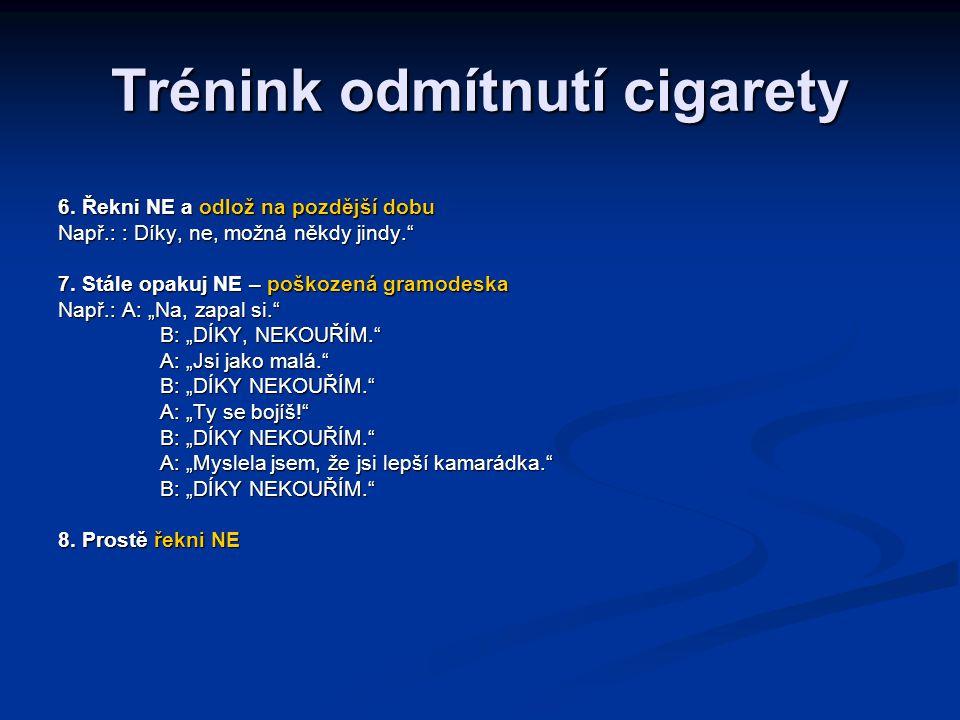 Trénink odmítnutí cigarety
