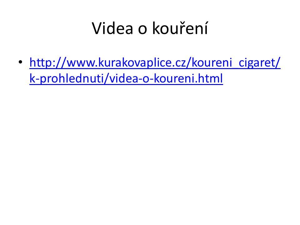 Videa o kouření http://www.kurakovaplice.cz/koureni_cigaret/k-prohlednuti/videa-o-koureni.html