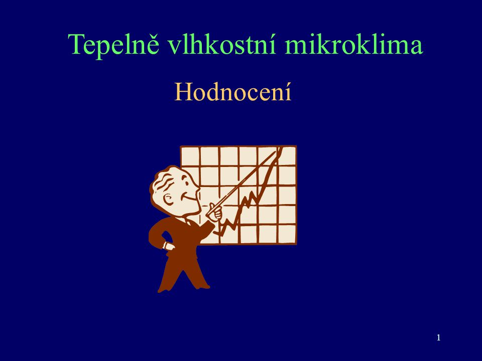 Tepelně vlhkostní mikroklima