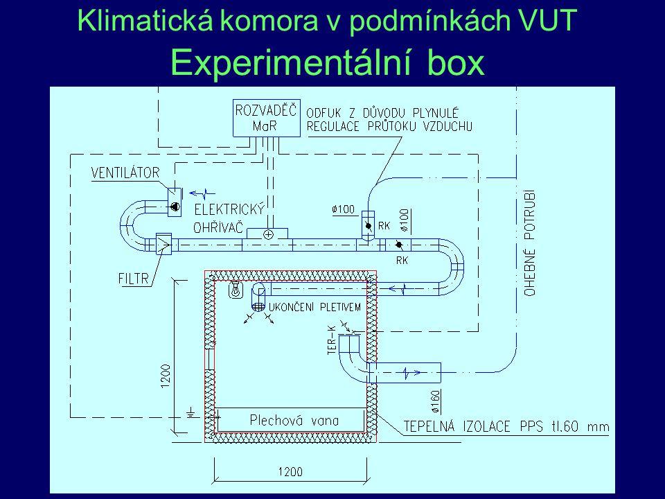 Klimatická komora v podmínkách VUT