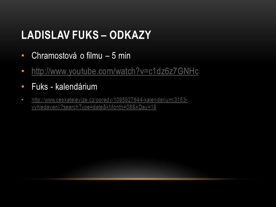 Ladislav Fuks – odkazy Chramostová o filmu – 5 min