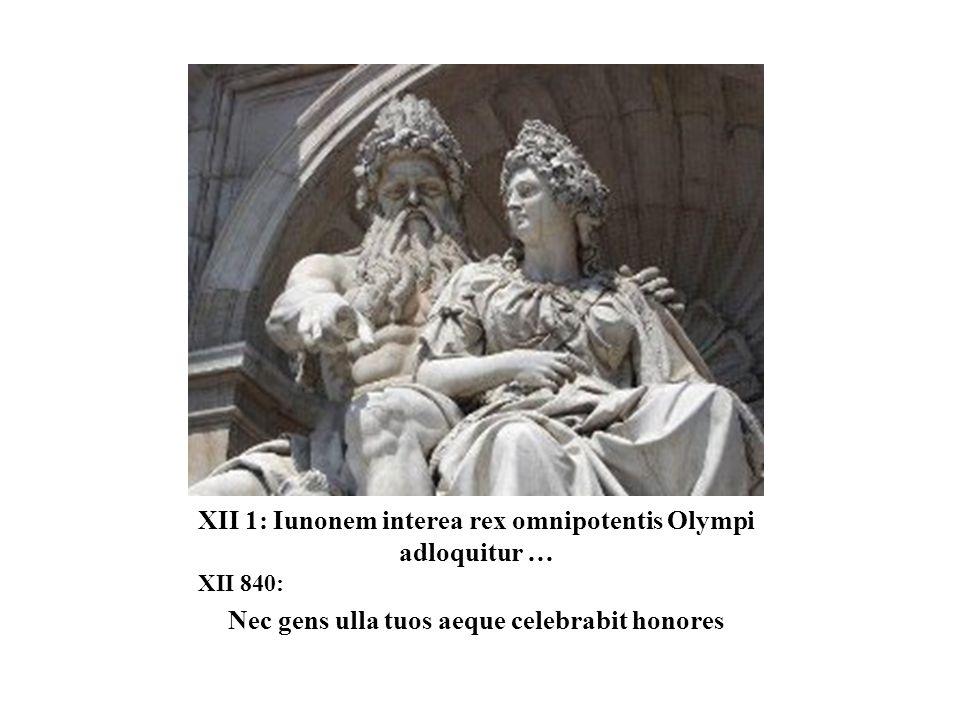 XII 1: Iunonem interea rex omnipotentis Olympi adloquitur …