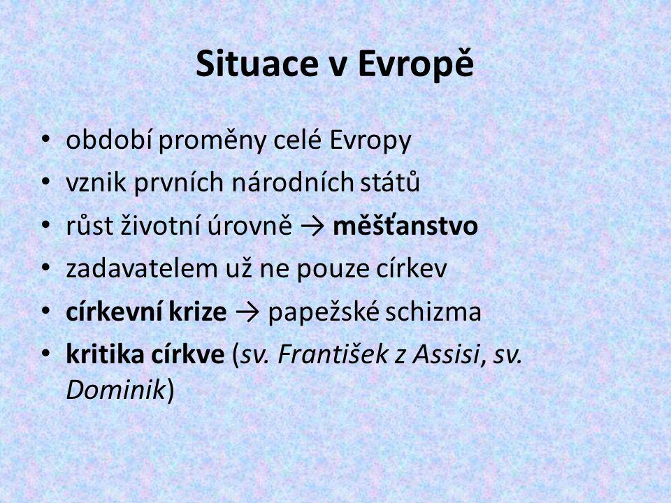 Situace v Evropě období proměny celé Evropy