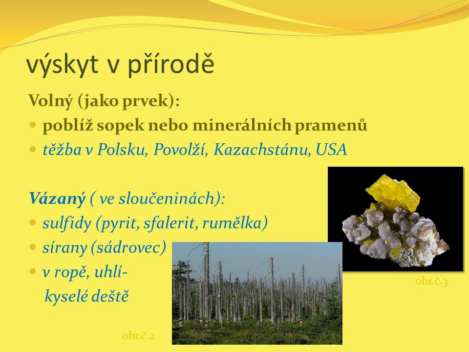 výskyt v přírodě Volný (jako prvek):