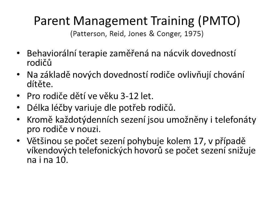 Parent Management Training (PMTO) (Patterson, Reid, Jones & Conger, 1975)