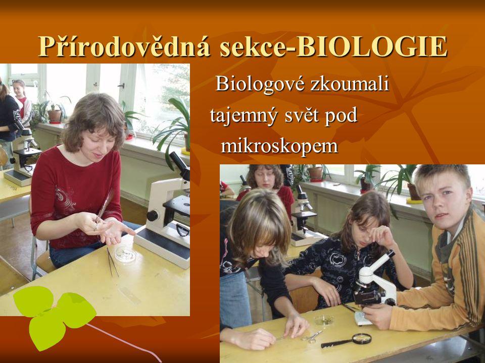 Přírodovědná sekce-BIOLOGIE