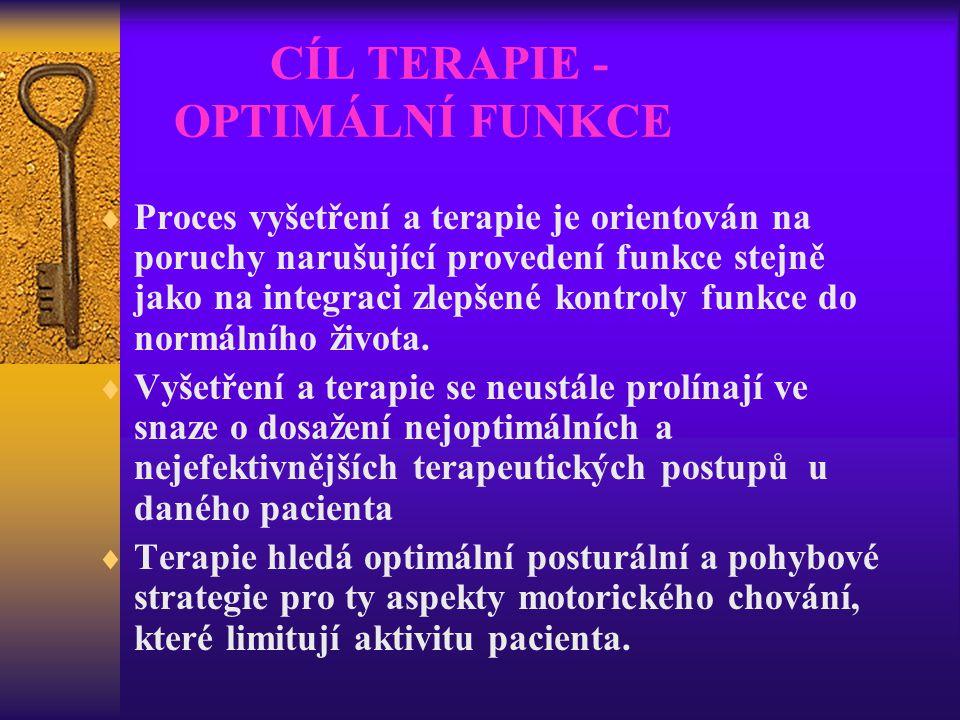 CÍL TERAPIE - OPTIMÁLNÍ FUNKCE