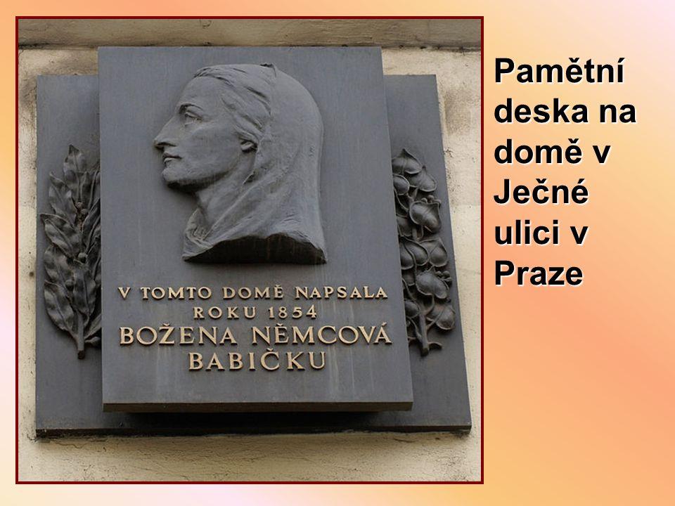 Pamětní deska na domě v Ječné ulici v Praze