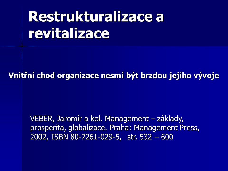 Restrukturalizace a revitalizace