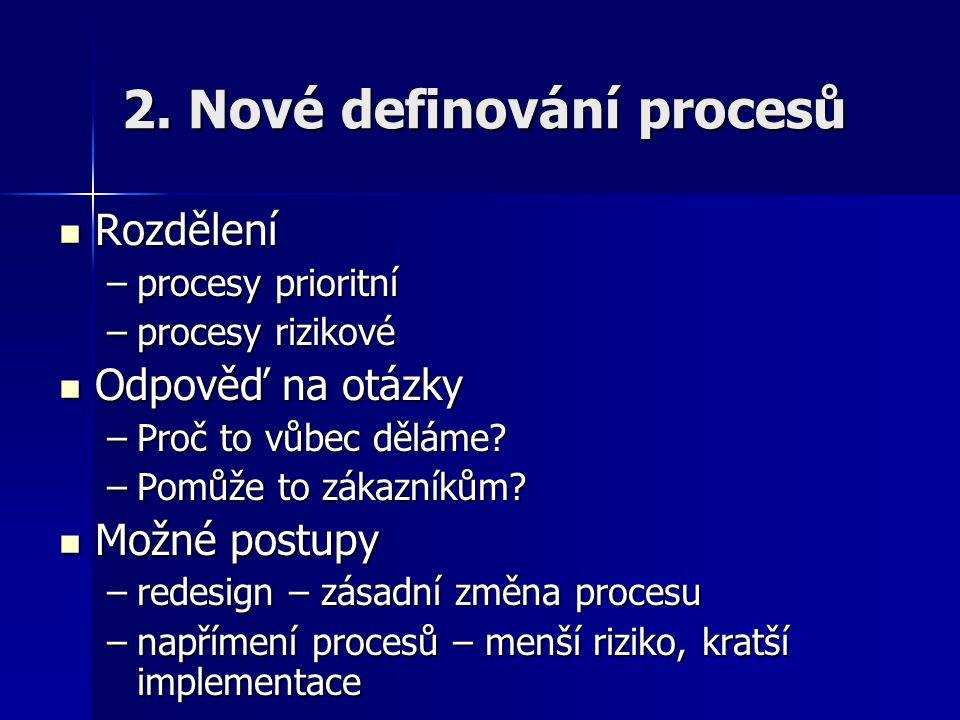 2. Nové definování procesů