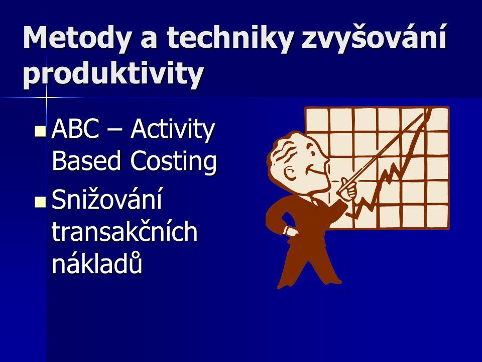 Metody a techniky zvyšování produktivity