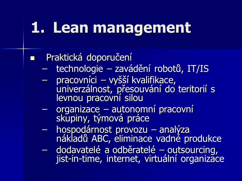 Lean management Praktická doporučení