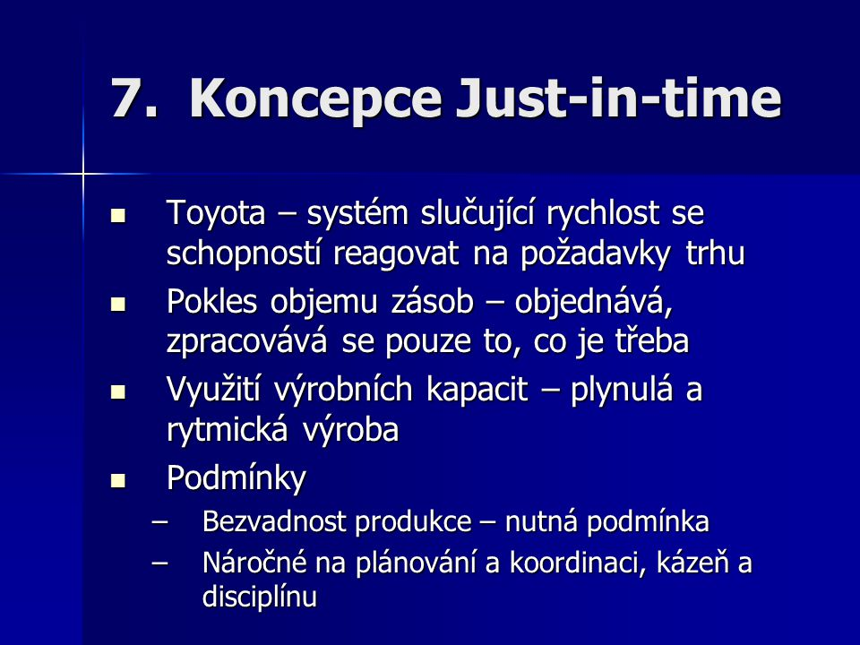 Koncepce Just-in-time