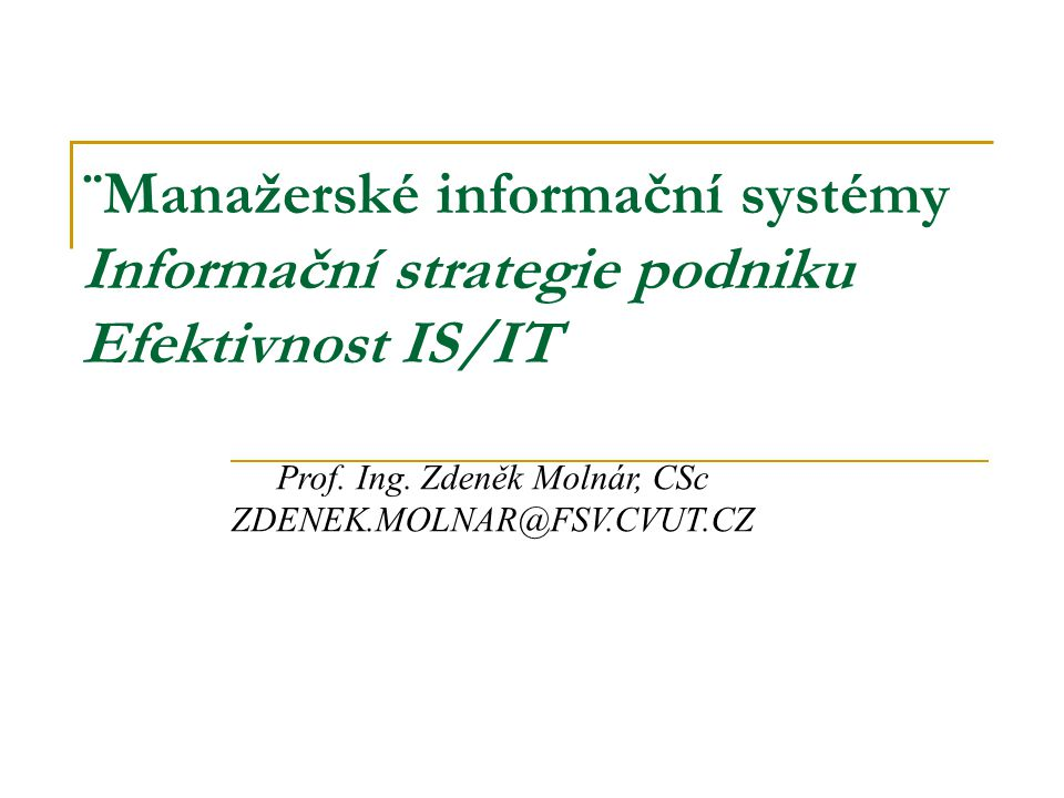 Prof. Ing. Zdeněk Molnár, CSc