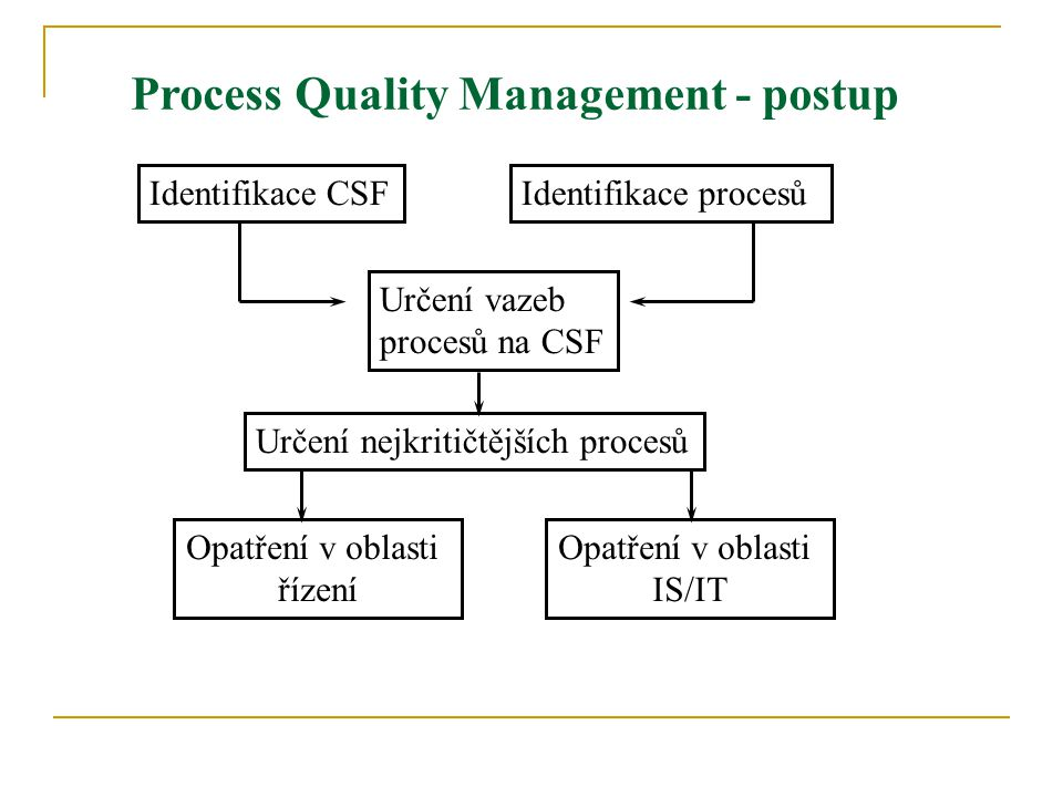 Process Quality Management - postup