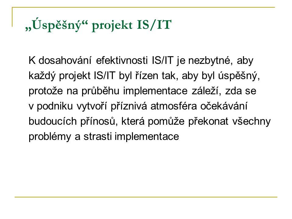 """""""Úspěšný projekt IS/IT"""