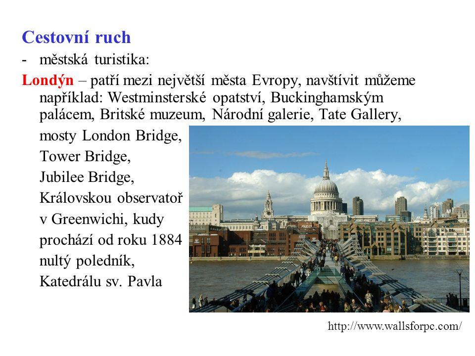 Cestovní ruch městská turistika: