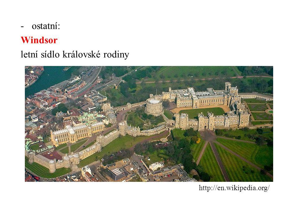 letní sídlo královské rodiny