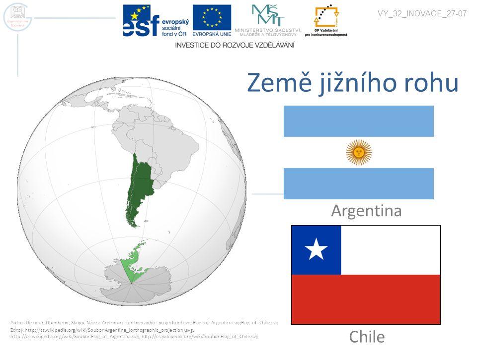 Země jižního rohu Argentina Chile VY_32_INOVACE_27-07