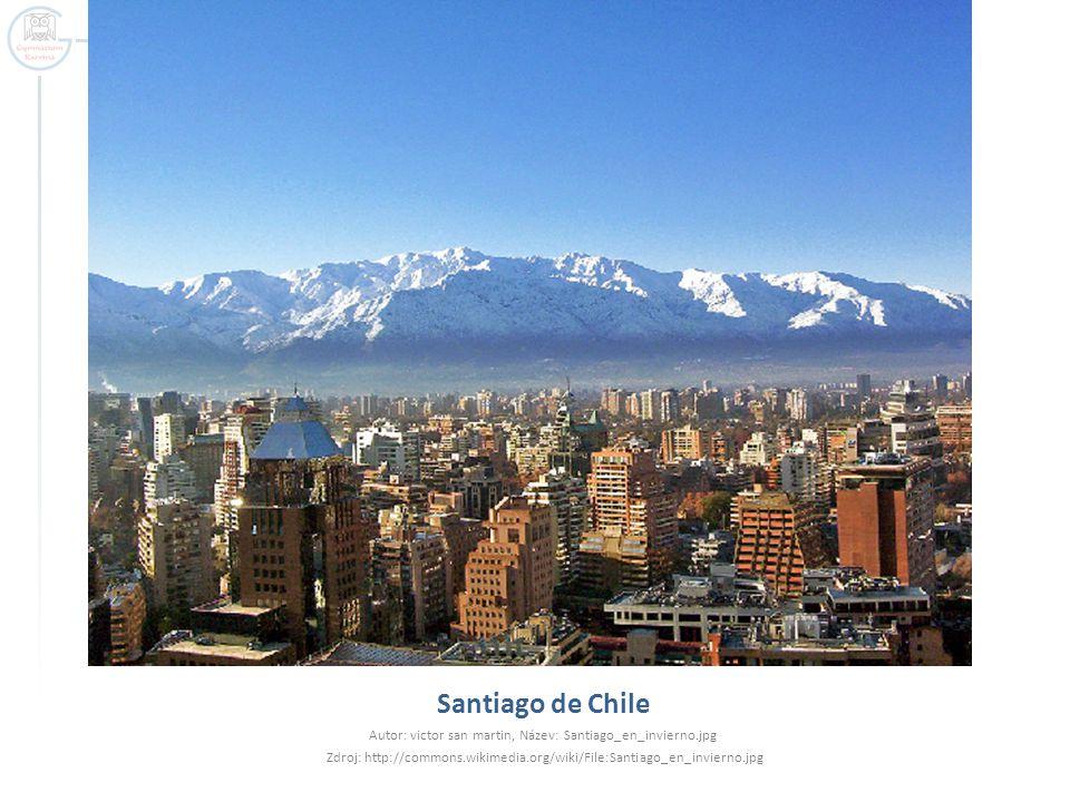 Santiago de Chile Autor: victor san martin, Název: Santiago_en_invierno.jpg.
