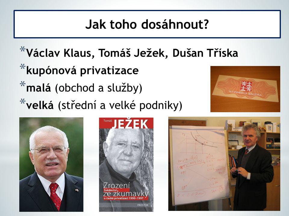 Jak toho dosáhnout Václav Klaus, Tomáš Ježek, Dušan Tříska
