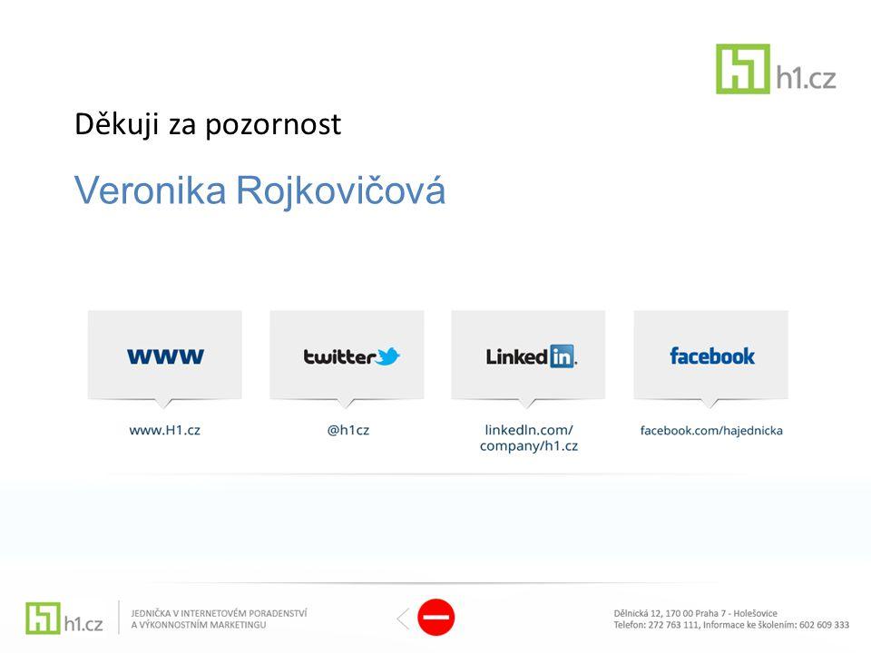 Děkuji za pozornost Veronika Rojkovičová