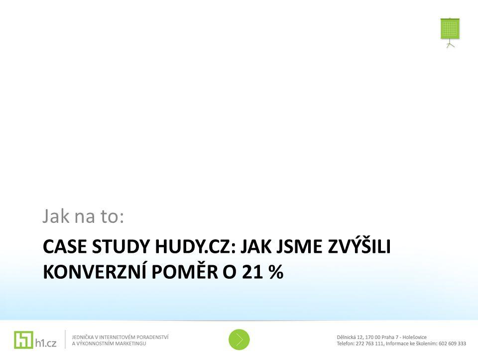Case study Hudy.cz: Jak jsme zvýšili konverzní poměr o 21 %