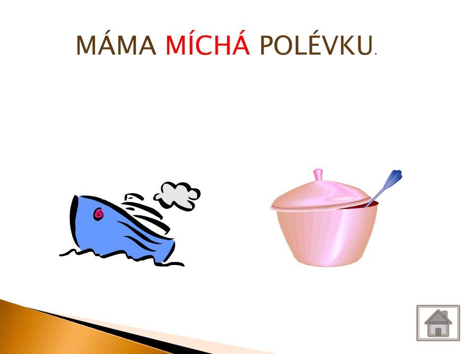 MÁMA MÍCHÁ POLÉVKU.