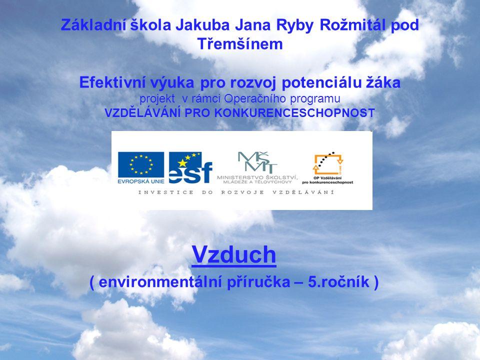 Vzduch ( environmentální příručka – 5.ročník )