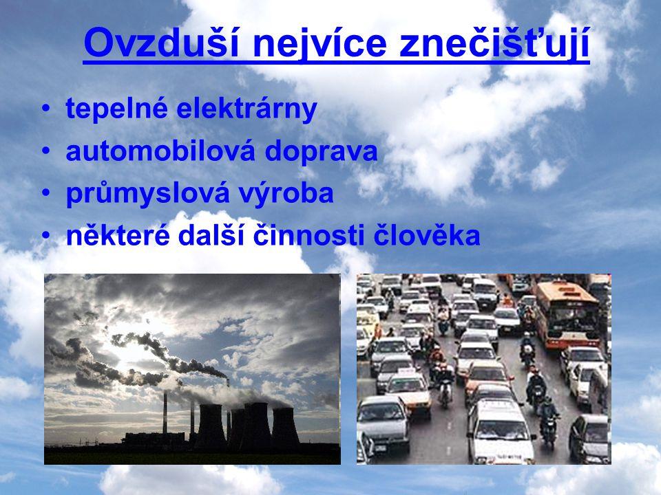 Ovzduší nejvíce znečišťují