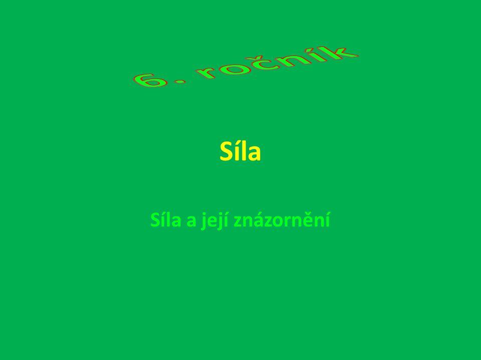 6. ročník Síla Síla a její znázornění