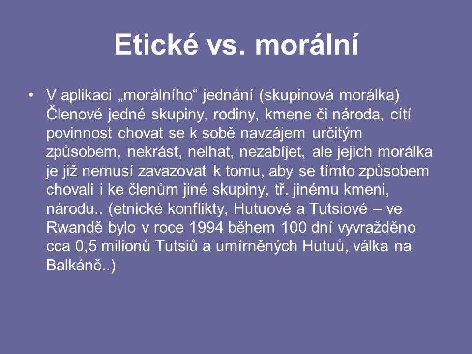 Etické vs. morální