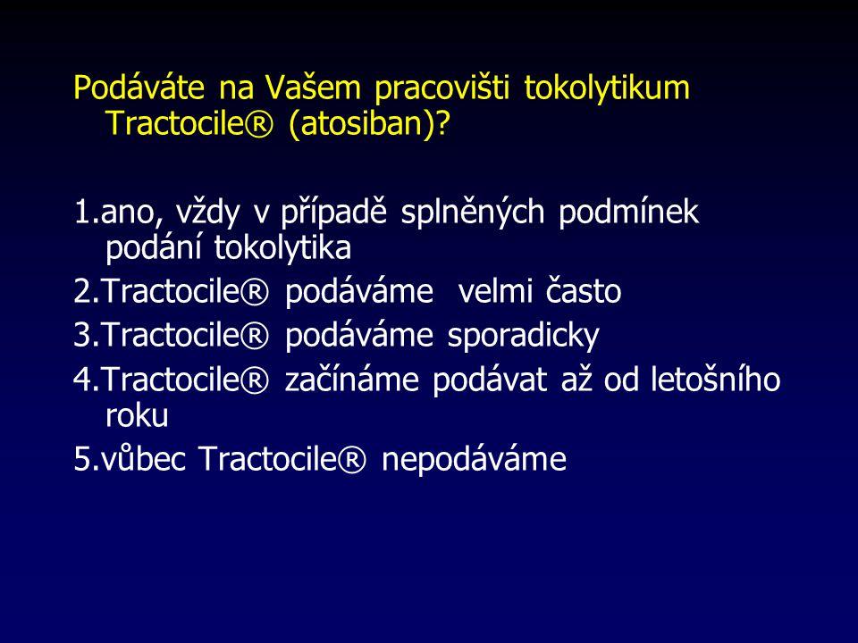 Podáváte na Vašem pracovišti tokolytikum Tractocile® (atosiban)