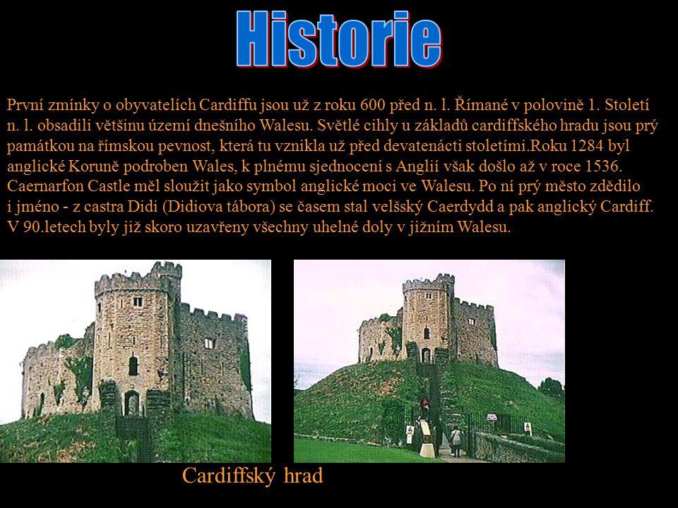 Historie Cardiffský hrad