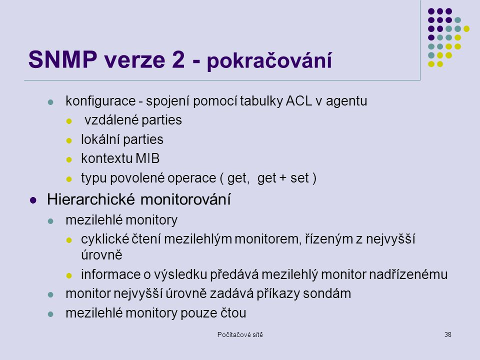 SNMP verze 2 - pokračování