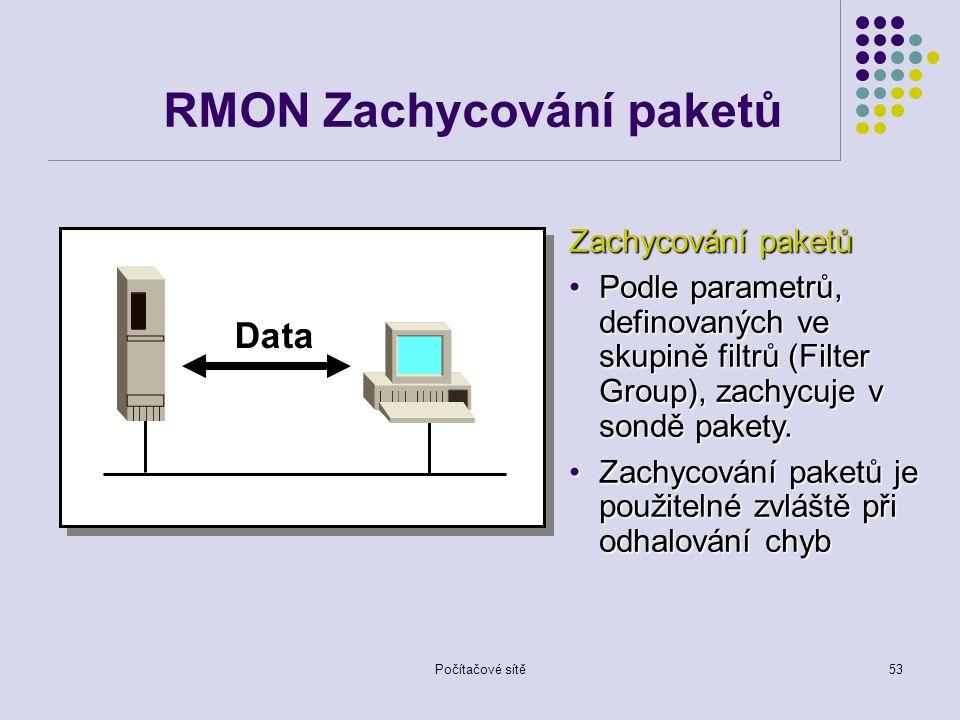 RMON Zachycování paketů