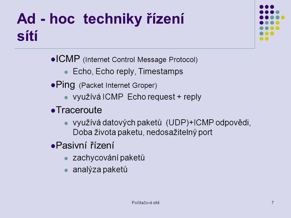 Ad - hoc techniky řízení sítí