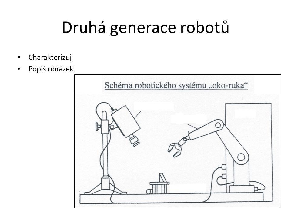 Druhá generace robotů Charakterizuj Popiš obrázek