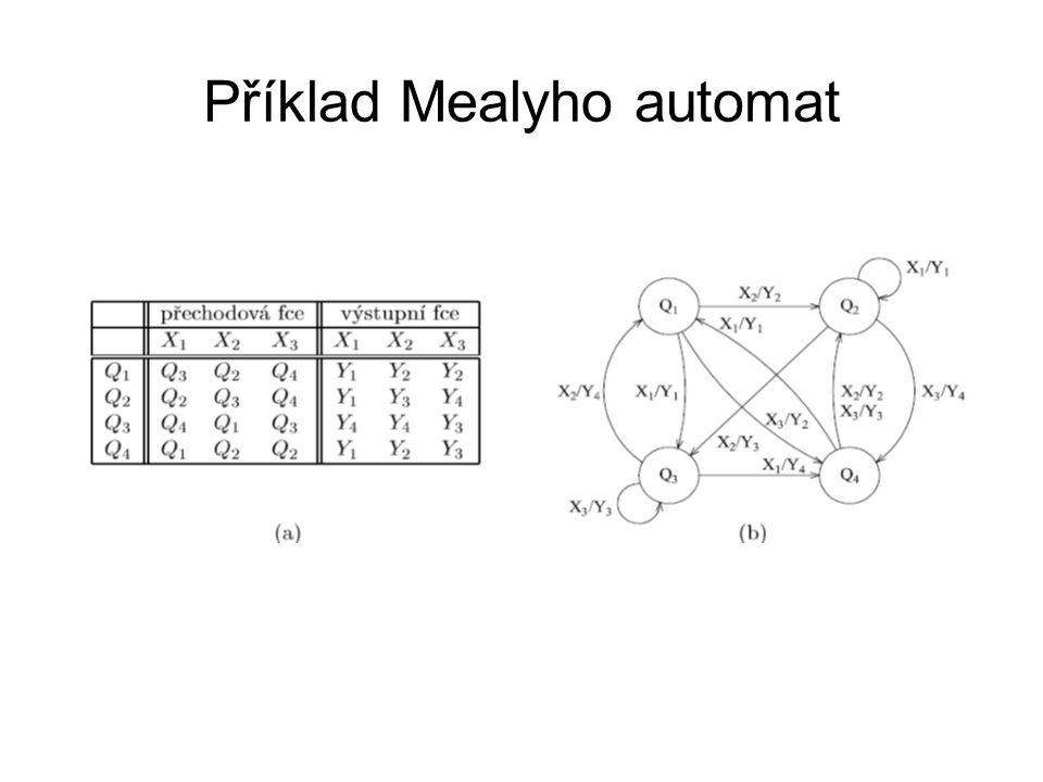 Příklad Mealyho automat