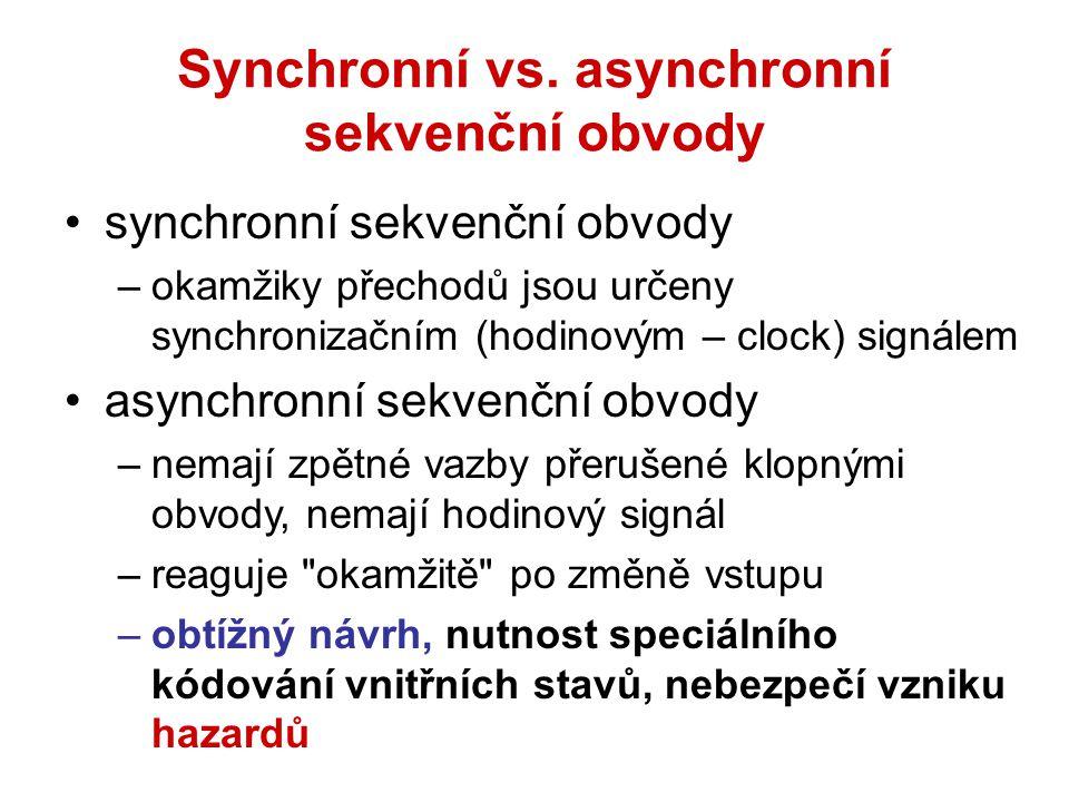 Synchronní vs. asynchronní sekvenční obvody