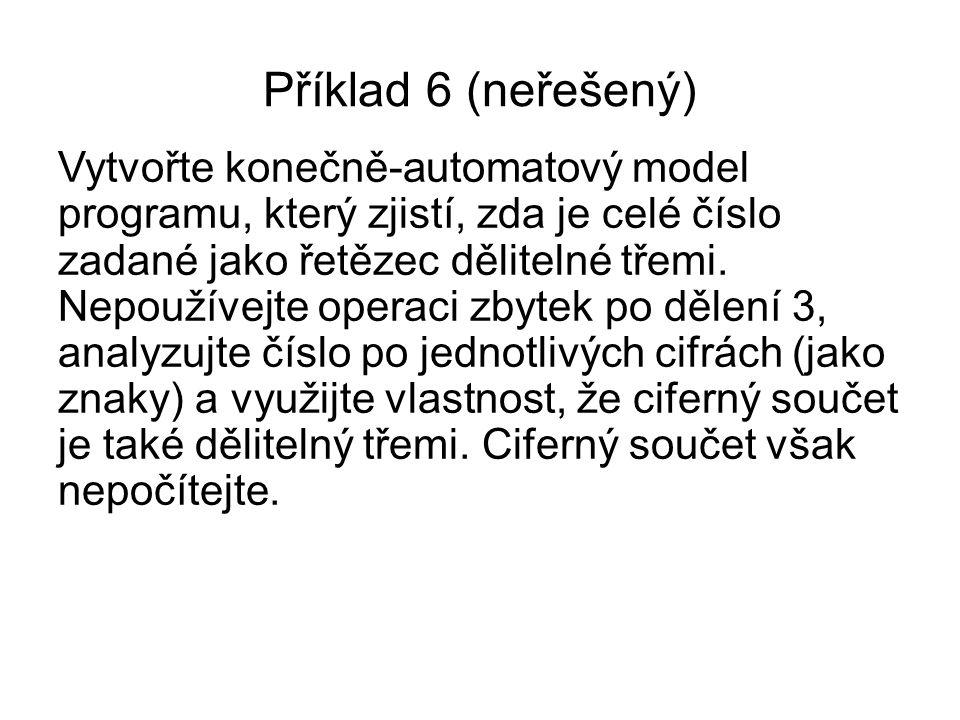 Příklad 6 (neřešený)