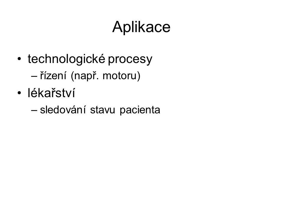 Aplikace technologické procesy lékařství řízení (např. motoru)